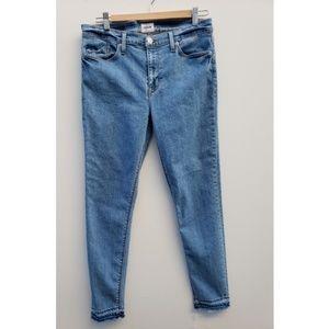 Hudson Midrise Nico Super Skinny raw edge Jeans 30